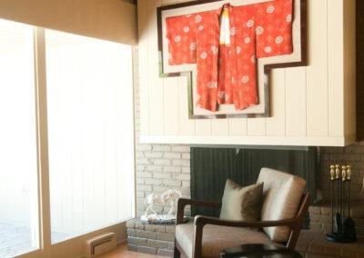 Reading area + fireplace